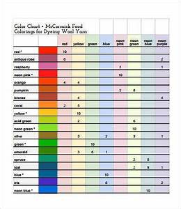 Food Coloring Chart 9 Free Pdf Documents Download