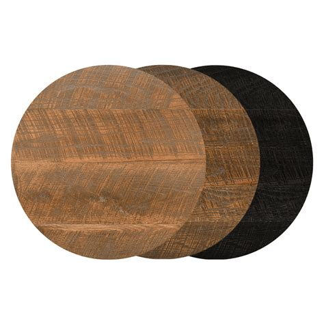 "24"" Round Urban Distressed Wood Table Top Bar"