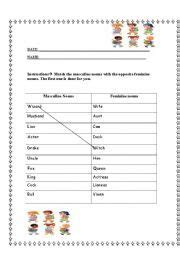 home gt nouns worksheets gt masculine and feminine images