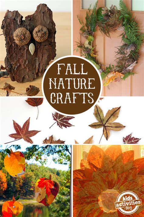 fall nature crafts  preschoolers