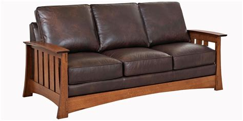 style couches arts and crafts style leather sofa furniture upholstery