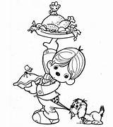 Coloring Thanksgiving Pages Dinner Turkey Kid Canada Little Drawing Preparing Lifting Colouring Feast Pilgrim Boy Indian Wishbone Outline Netart Getdrawings sketch template