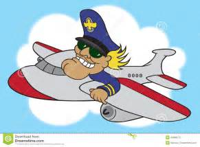 Airplane Pilot Cartoon