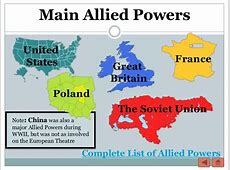 Allied powers are when countries have a certain amount of