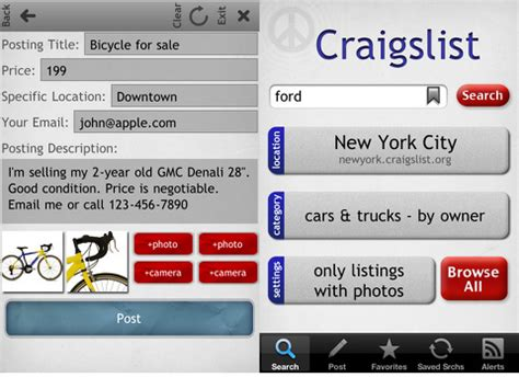 craigslist iphones best iphone and applications craigslist mobile