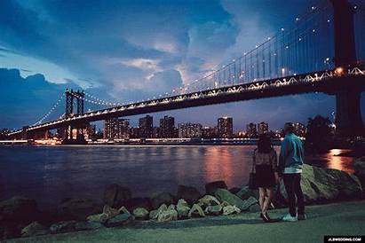 York Jlbwedding Couple River Brooklyn Gifs Animated