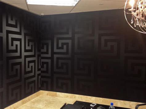 Versace Wallpaper & Border Gold Black Luxury Satin Modern