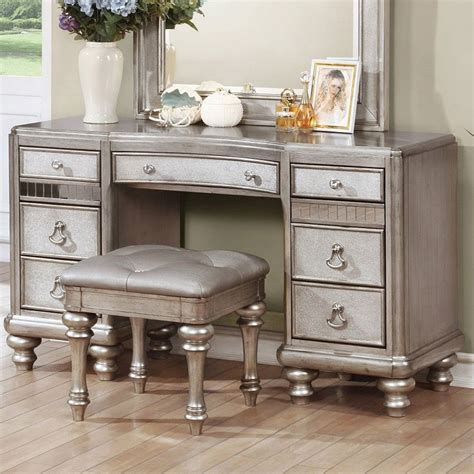 furniture vanity bling panel bedroom set coaster furniture furniture