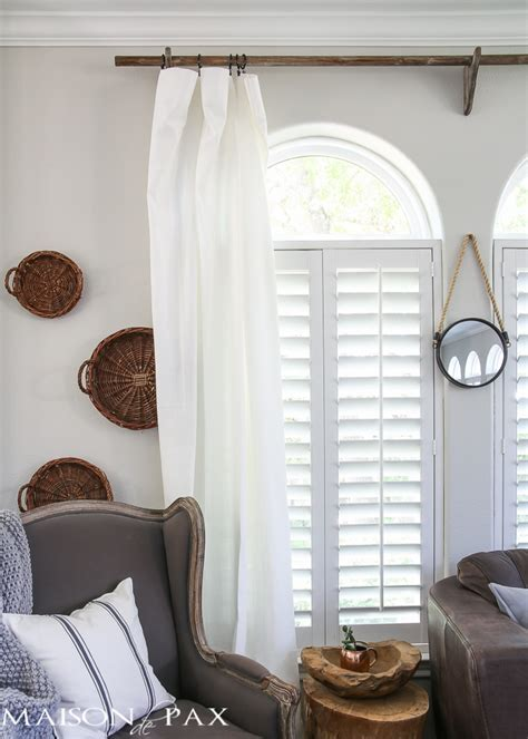 Restoration Hardware Curtain Rods by Diy Curtain Rods Restoration Hardware Inspired Maison