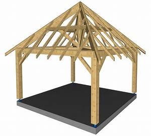 Charpente Traditionnelle Bois En Kit : kiosque 4 pans abri r gion limousin ~ Premium-room.com Idées de Décoration