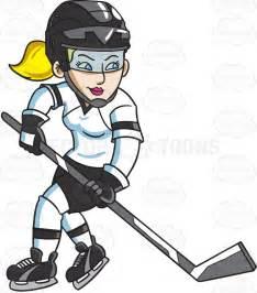Female Ice Hockey Player Clip Art