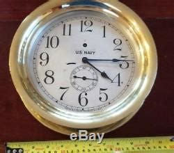 navy  dial seth thomas ships pilot house clock