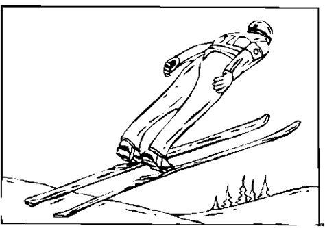 skispringen ausmalbild malvorlage sport