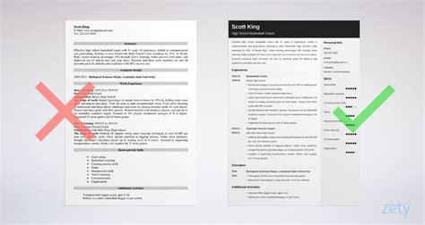 coaching resume samples   high school coach jobs