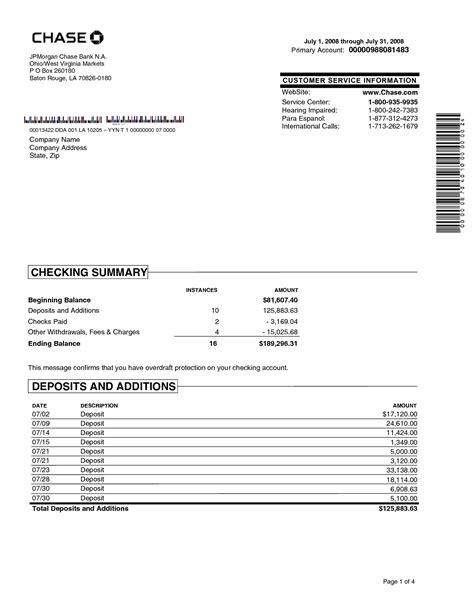 Blank Bank Statement Template Portablegasgrillwebercom