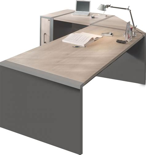 bureau de contr e bureau bureau d 39 angle avec caisson moderne comforium
