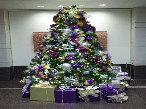 purple decorated christmas trees purple christmas trees decorated happy holidays 5322