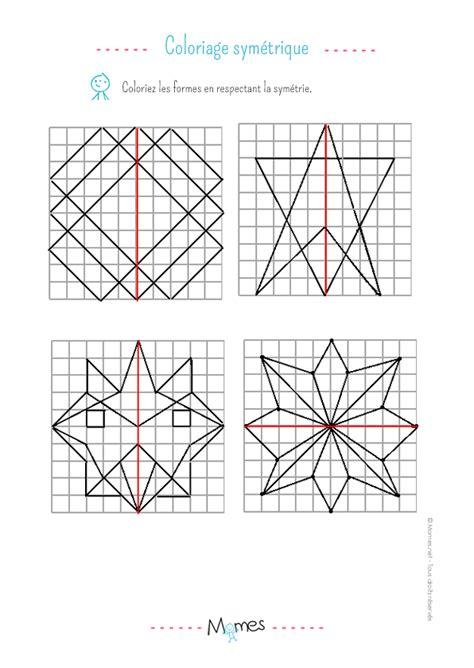 fabriquer cuisine coloriage symétrique exercice momes