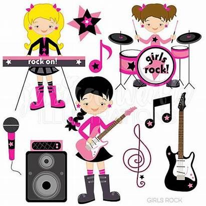 Rock Clipart Clip Band Rockstar Graphics Cartoons