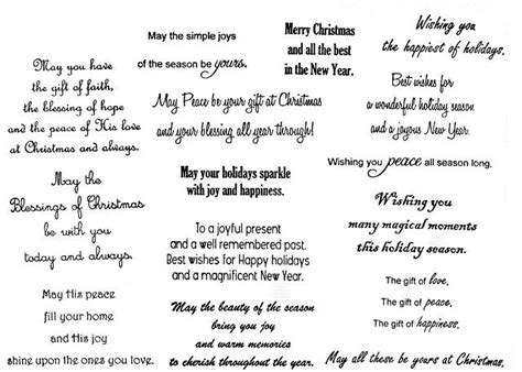 greeting card words of christmas greeting card verses and sentiments
