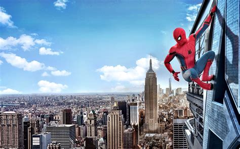 wallpapers spider man homecoming  york city heroes comics
