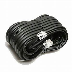100 U0026 39  Ft Telephone Extension Cord Black Phone Cable Wire