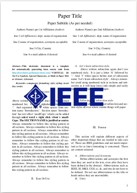ieee conference template docx2latex