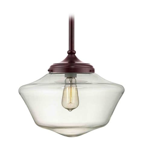 schoolhouse pendant light 14 inch bronze clear glass schoolhouse pendant light fa6
