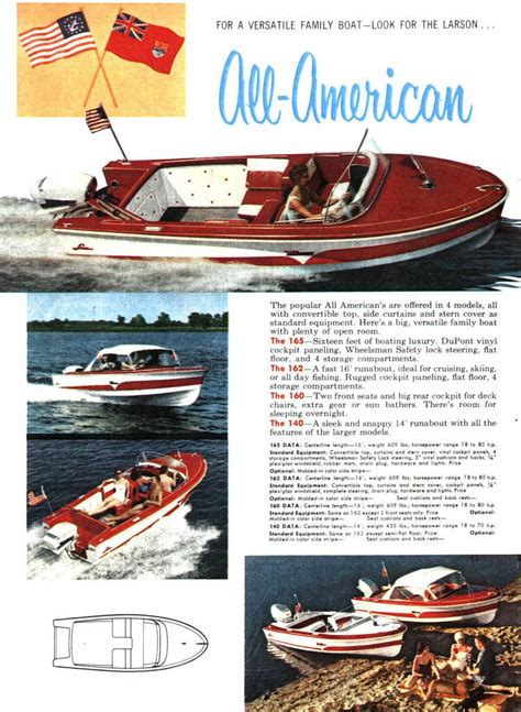 How To Winterize A Boston Whaler Jet Boat by 1959 Larson All American Boat Literature Classic Boats