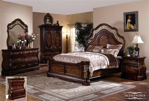 Bed Dresser Set by Alexandria 5 Pc Bedroom Set Bed Dresser Mirror