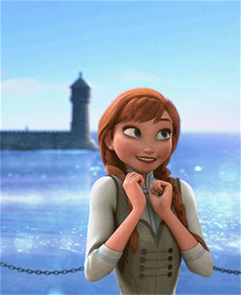excited anna reaction gifs