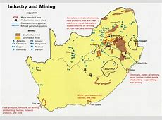 Africa Label Map South Minerals 6