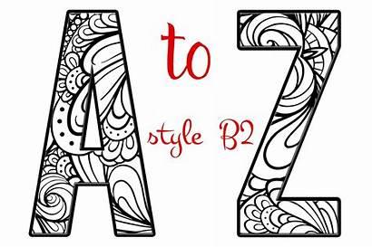 Alphabet Letters Letter Coloring Pages B2 Creative