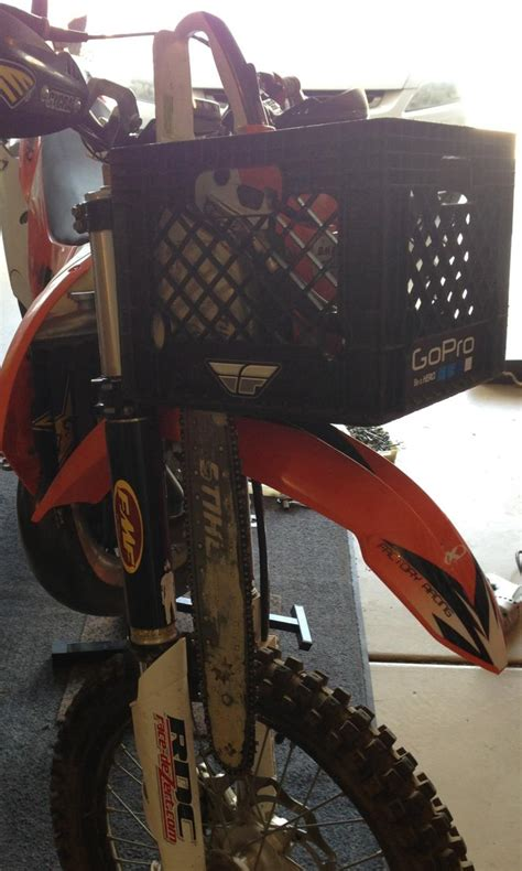 product review diy chainsawcarryall tote   dirt bike