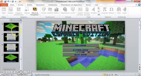 como hacer  juego tipo minecraft en power point youtube