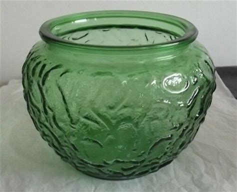 Vase Company by Vintage E O Brody Company Cleveland Green Glass Vase