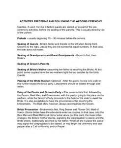 Wedding Ceremony Outline Template