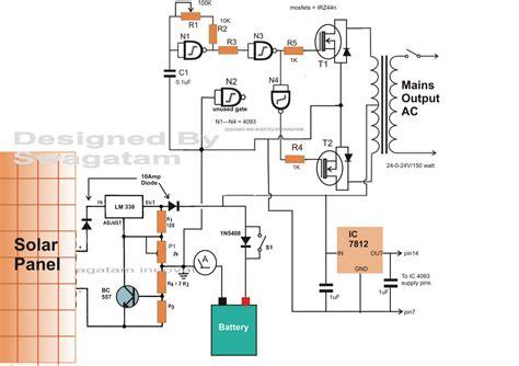 Solar Panel Inverter Circuit Diagram Images