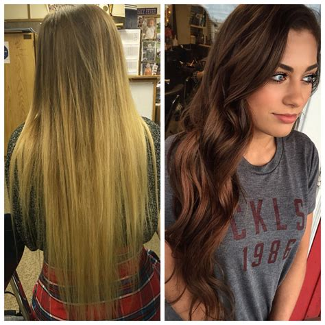 Before And After Blonde To Brunette Hair Hairbybran In