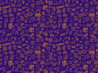 Pattern Doodle Background Sound Social Dribbble Based