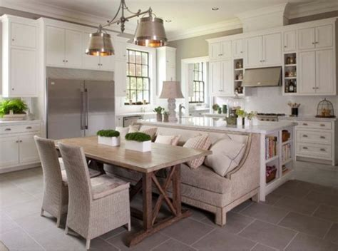 Island Booth Seating by Kitchen Islands As Banquettes