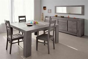table de salle a manger carree chypre ii buffet bahut With salle À manger contemporaine avec table 12 personnes salle manger