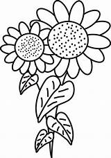 Sunflower Coloring Pages Printable Sunflowers Fancy Clipart Drawing Flowers Colouring Sun Cartoon Van Bouquet Colornimbus Printables Cliparts Patterns Fall Gogh sketch template