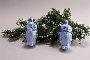 Weihnachtskugeln Aus Lauscha : 2 eulen eis hellblau christbaumkugeln christbaumschmuck ~ Orissabook.com Haus und Dekorationen