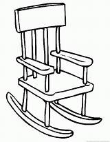 Chair Coloring Popular sketch template