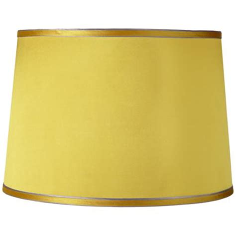 yellow drum l shade sydnee satin yellow drum l shade 14x16x11 spider