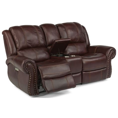 Flexsteel Power Reclining Loveseat by Flexsteel Latitudes Patton Transitional Power Reclining