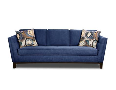 Mid-century Modern Blue Sofa And Loveseat