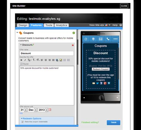 12024 Malaysia Coupon Website by Mobile Website Builder Exabytes My Malaysia