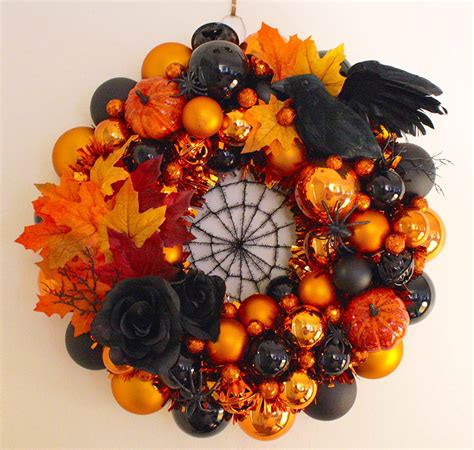 Kmart Halloween Decorations by Erika Makes A Fabulous Halloween Wreath Using Our